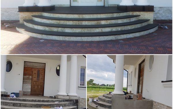 Schody wejściowe i Taras – Granit Bazalt